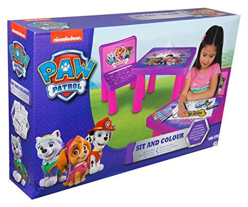 Sambro PWP9-Y17-4144-1 - Tisch und Stuhl für Kinder inklusive Malset Paw Patrol pink
