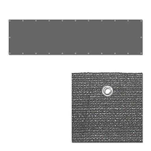 Balkon Sichtschutz Grau - Balkonsichtschutz Windschutz Balkonbespannung - 600x75cm