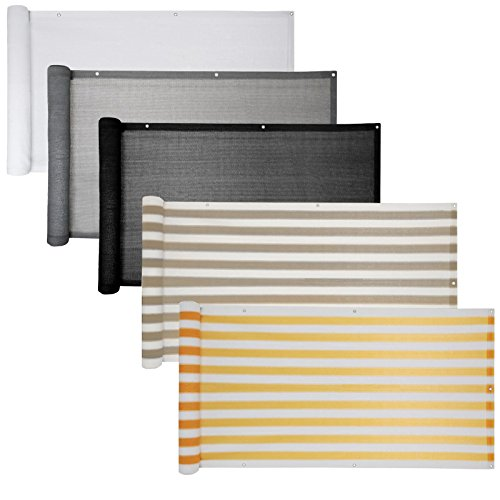 Balkon Sichtschutz verschiedene Modelle  Balkonbespannung Balkonsichtschutz Balkonverkleidung 6 Meter 075 x 60 Meter Weiß