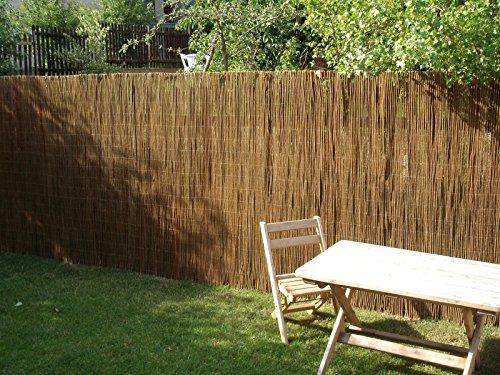 Nature LOUNGE Weidenmatte 160 x 500 cm - Hochwertiger Weiden Sichtschutz Zaun - Weidenzaun Matte für Haus Garten und Balkon