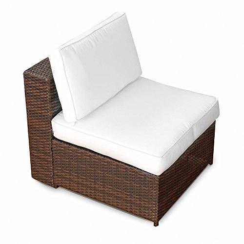 1er Polyrattan Lounge Möbel Mittel Sessel braun-mix - Gartenmöbel 1er Polyrattan Lounge Mittel Sessel Lounge Mittel Sofa Lounge Mittel Stuhl - durch andere Polyrattan Lounge Gartenmöbel Elemente erweiterbar