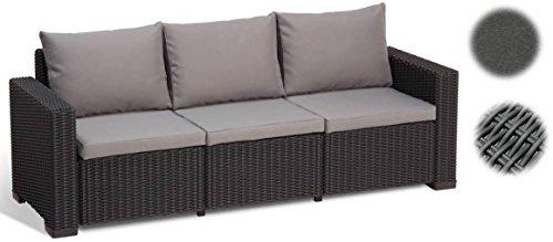 Allibert Lounge Sofa California 3-Sitzer graphitpanama cool grey