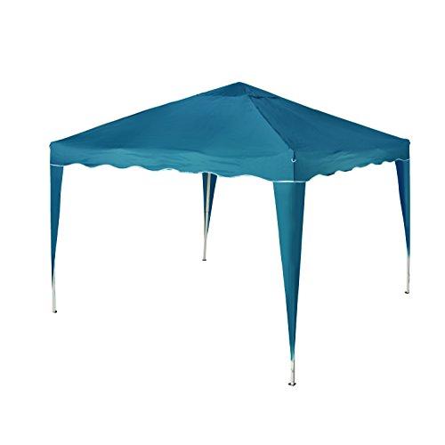 Vanage Pavillon Stella aus Aluminium ohne Seitenwände Faltpavillon einsetzbar blau 300 x 300 x 260 cm