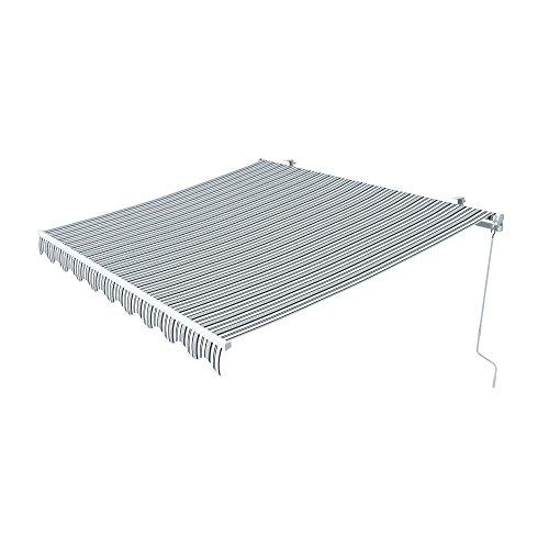 paramondo Gelenkarmmarkise Easy 35 x 25 m Stoff Multi grau-weiß