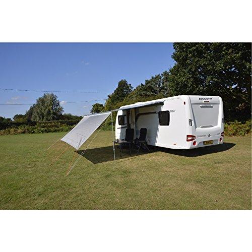 Sonnenschutz 330 cm breit für gängige Markisen 4mm und 6mm Keder integriert • Sonnensegel Vorzelt Wohnwagen Sonnendach Windschutz Sichtschutz