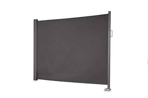 empasa Seitenmarkise slim Sichtschutz Sonnenschutz Windschutz in verschiedenen Größen anthrazit oder cremeweiß