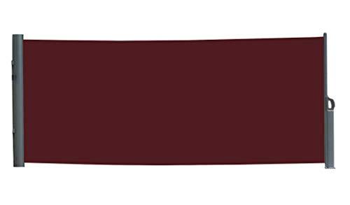 vanvilla Seitenmarkise Sichtschutz Sonnenschutz Windschutz Markise Seitenwand Bordeaux 200x300 cm