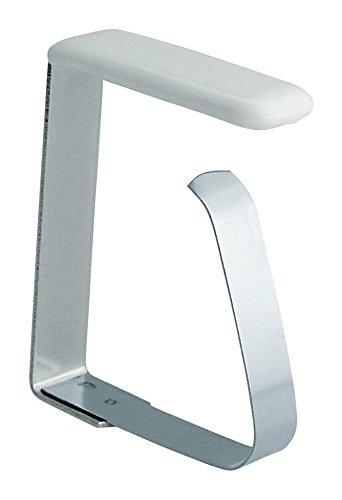 Home Xpert 4er Set Tischtuchklammern Tischdeckenklammern Tischtuchhalter aus Edelstahl für Tischplatten bis 45 mm