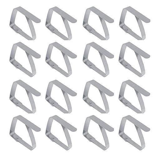 Missmore Packung mit 16 Tischclips Tischtuchhalter aus Edelstahl Tischtuch Cover Clamps-Small