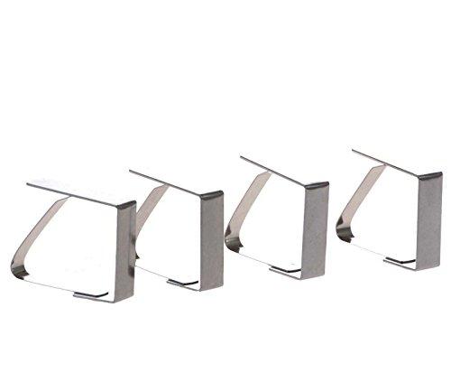 SIDCO  4 x Tischtuchklammer Tischdeckenklammer Tischtuchhalter Tischklammern Edelstahl