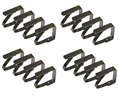 all-around24 16 Stück Tischtuchklammern Tischdeckenhalter Tischdeckenklemme Edelstahl klammern für Tischdecke