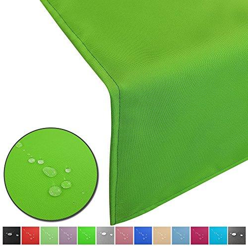 Outdoor Tischläufer Lounge mit Lotuseffekt wasserabweisende abwaschbaren Tischdecken in verschiedene Farben und Größen Tischband Gartentischdecke pflegeleicht und wetterfest FarbeGrün Größe50 x 150 cm