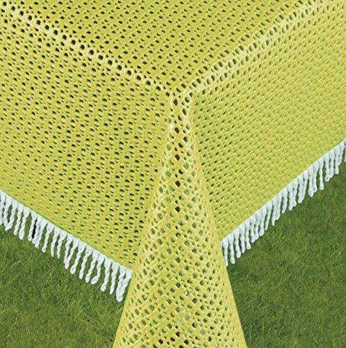 Schwar Textilien Gartentischdecke Tischdecke Weichschaummaterial Rutschfest wetterfest 4 Farben 699 Rustikal 160cm rund GelbGrün