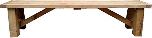 Casa Padrino Luxus Massivholz Sitzbank 230 cm für Esstisch Eiche Massiv - Schwere Ausführung