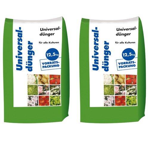 25 kg Universaldünger NPK 8-4-5 Gartendünger organisch-mineralischer Dünger für Blumen Obst 2x125 kg