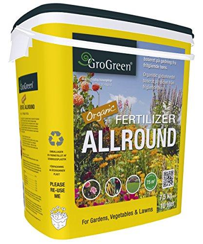 GroGreen Organischer Bio Universaldünger 4-3-2 1 Mg  9 Ca 75 kg Eimer