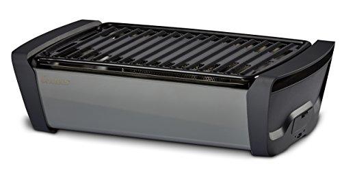 Enders AURORA rauchfreier Tischgrill grey 1364  mobiler Holzkohle-Grill rauchfrei für Balkon Picknick Camping