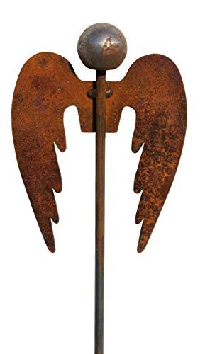 Bluemelhuber Gartenstecker Engel 118cm Metall Rost Gartendeko Edelrost