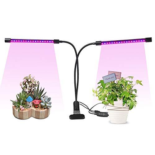 Update 18W PflanzenlampeAsundom 36 Stück LED Pflanzenlampen mit RotesBlaues Spektrum Und 360 Grad flexibel verstellbarer Schwanenhalsgeeignet für Hydrokultur Zimmerpflanzen und Blumen