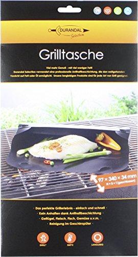 Durandal Grilltasche eckig 34x97x34 cm  Wiederverwendbare BBQ Grillmatte für Gasgrill Holzkohlegrills mit Antihaftbeschichtung  Ideals Grill Zubehör