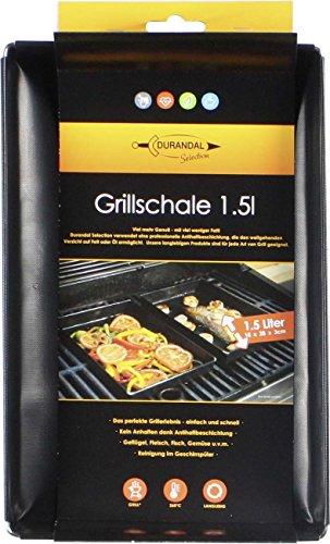 Durandal Selection Grillschale 18x28x3cm  Wiederverwendbare Grill Schale für Gasgrill Lotusgrill Holzkohlegrills mit Antihaftbeschichtung  Must Have Grillzubehör