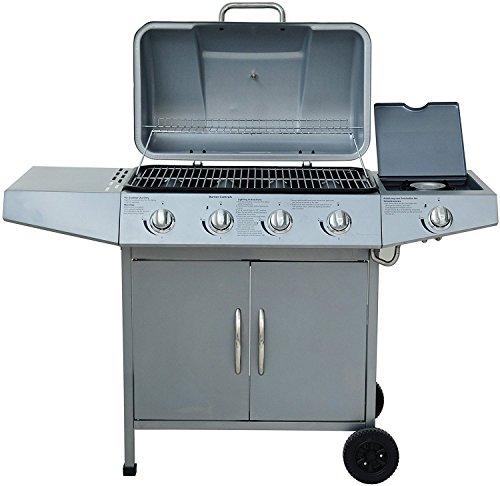 broil-master BBQ Gasgrill 41 silber DEATCH mit Grill Temperaturanzeige