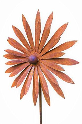 Gartenstecker Blume Metall Rost Gartendeko Edelrost Groß