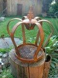 Krone Lilie Edelrost Metall Deko Krone Gartendekoretion