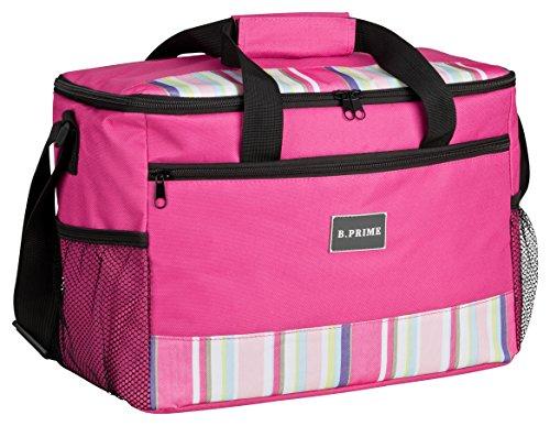 BPRIME 20L Kühltasche Classic Pink I 36x26x22cm I Isoliertasche I Kühlbox I Picknicktasche I Eistasche I Campingtasche I Picknick I Outdoor I Reisen I Einkauf I Auto I Sport