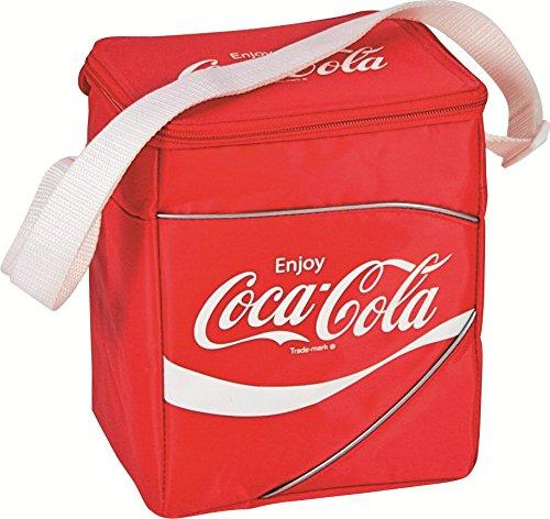 EZetil Coca-Cola Classic passive Kühltasche zur Kühlung von Lebensmitteln faltbar für Camping  Picknick  Reisen  Einkauf Rot