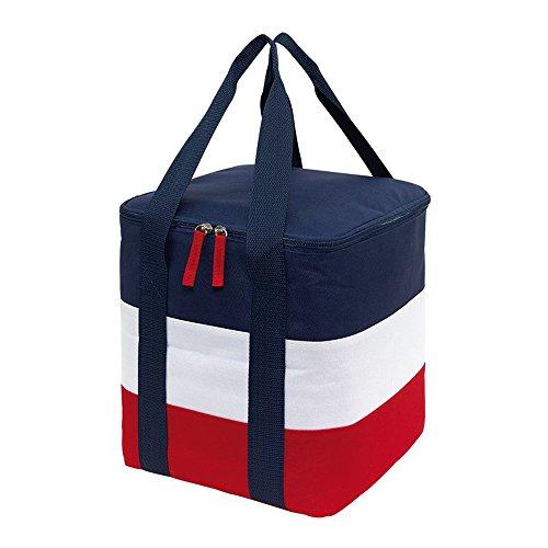 Kühltasche Isoliertasche maritimen Look Getränketasche 2 Tragegriffe Picknick Kühltasche