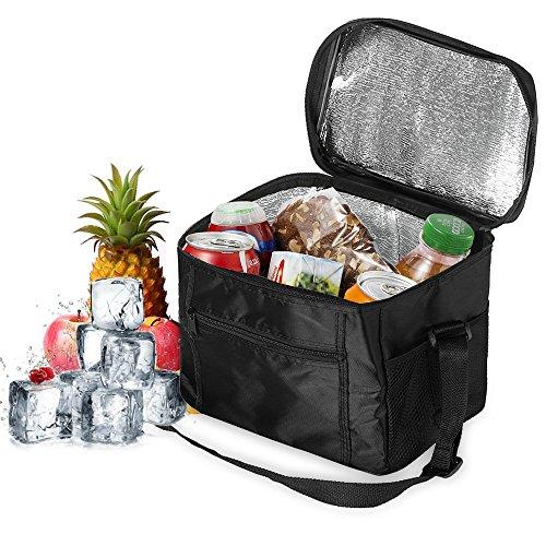 Orlegol Kühltasche Picknicktasche 10L Lunchtasche Kühltasche Faltbar Thermotasche Kühltasche Mittagessen Tasche Isoliertasche für Auto Beach Grillfeste Camping Reisen 27x17x24cm