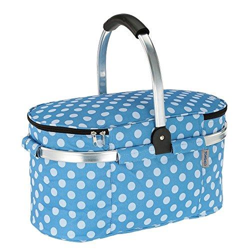 TOMSHOO 30L Picknickkorb Faltbare Kühlkorb Picnic Kühltasche Picknicktasche für Damen und Herren Travel Travel Lunch Kühltasche