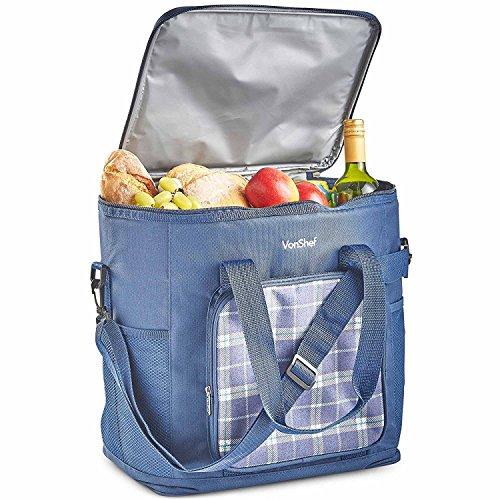 VonShef 30L KühltascheGroße Picknick-Tasche mit Isolierung - Blaue