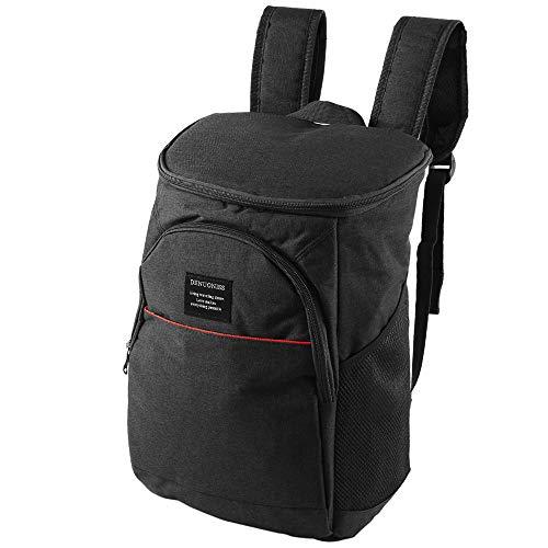 elfisheu Kühltasche Rucksack Lunchtasche 10-25L Isoliertasche Picknicktasche für Lebensmitteltransport Picknick Camping Wandern Schwarz
