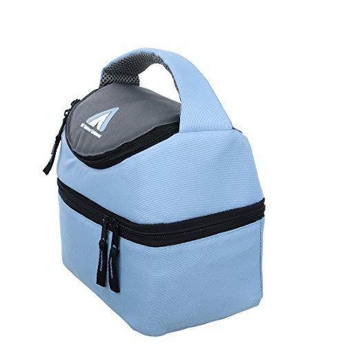 10T Fridgo Bag 5 - Kühltasche mit 5L Volumen faltbare Thermotasche passive Kühlbox Kühlkorb mit 2 Fächern Picknick-Tasche mit Tragegriff Isoliertasche für Camping Outdoor und Freizeit