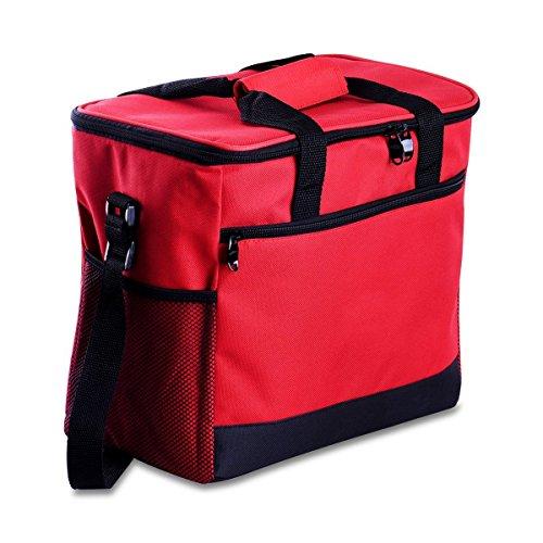 Kühltasche Cozyswan Picknicktasche Thermal Mittagessen Tasche  Kühlbox 16 L Unisex Outdoor Rot