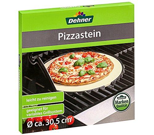 Dehner Pizzastein für Grill und Backofen Ø 30 cm Schamotte