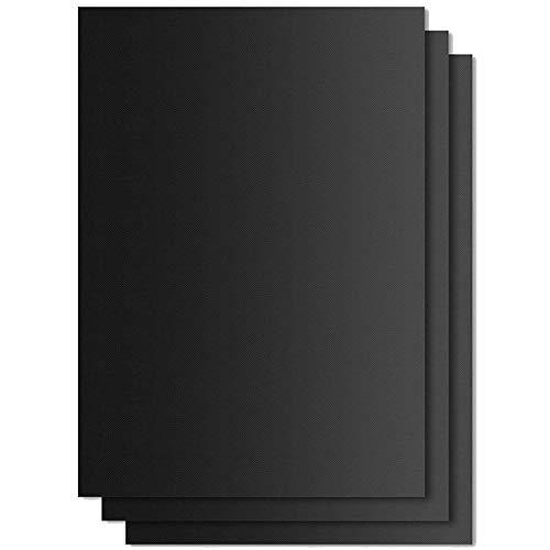 iheyfill BBQ Grillmatte Backpapier 3er Set Teflon Antihaft zum Grillen und BackenBarbecue Grill Matte Backmatte Wiederverwendbar für Holzkohlegrill elektronischen Grill Backofen