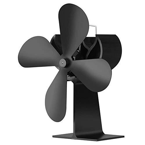 JOYOOO Stromloser Ventilator für Kamin Holzöfen Öfen - Kein Lärm Ofenventilator - 4 Rotorblätter Kamin -Hitze Powered Ofen Fan für HolzLOG BrennerKamin Umweltfreundlich Ventilator Ofenventilator