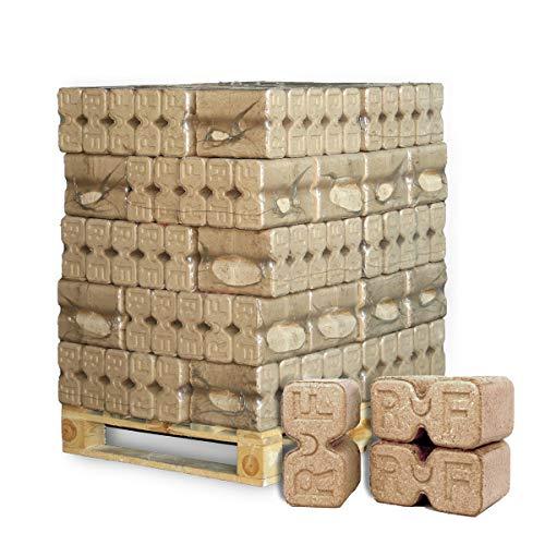 PALIGO Holzbriketts Ruf Duplex Hartholz Eiche Kamin Ofen Brenn Holz Heiz Brikett 10kg x 30 Gebinde 300kg  1 Palette Heizfuxx