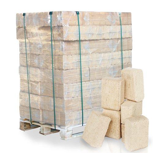 PALIGO Holzbriketts Ruf Nadelholz Kamin Ofen Brenn Holz Heiz Brikett 10kg x 96 Gebinde 960kg  1 Palette Heizfuxx
