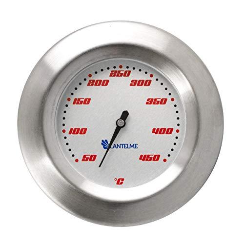 Thermometer für Grill  Smoker  Räucherofen  Grillwagen  Analog  Bimetall  Edelstahl  BBQ Grillzubehör Modell Lantelme SKU5122-WSS-307Racing