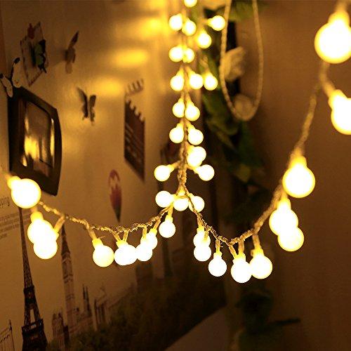 Lichterkette infinitoo 10 Meter 100 LED Glühbirne Lichterkette Warmweiß Wünderschöne-Deko für Weihnachten Hochzeit Party Zuhause sowie Garten Balkon Terrasse Fenster Treppe Bar etc