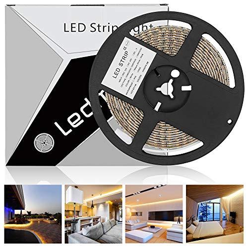 LEDMO led strip streifen band 5m warmweissIP65 wasserdicht led stripes SMD2835 600 leds 15LMLED led lichtband CRI80Haus Dekoration