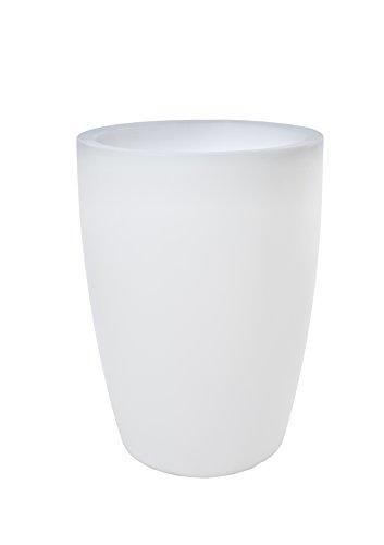 8 seasons design  Blumentopf leuchtend Pflanztopf Shining Pot rund E27 LED geeignet 60 cm hoch Ø 45 cm groß 30l frostbeständig Indoor Outdoor weiß