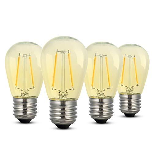 Dimmbar LED-Glühbirne iEGrow Edison Stil Retro Glühbirne Warmweiß 2700K 2W ST45 LED Glühfaden Glühbirne E27 Basis Lampe für Restaurant Haus Leseraum 4er-Pack