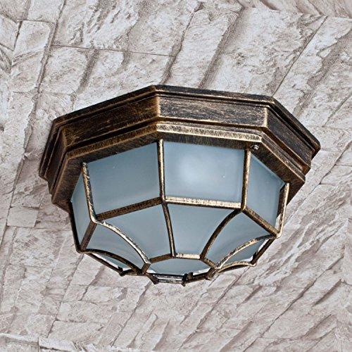 Edle LED Energiespar-Deckenleuchte 6 Watt in Antik-Gold Deckenlampe