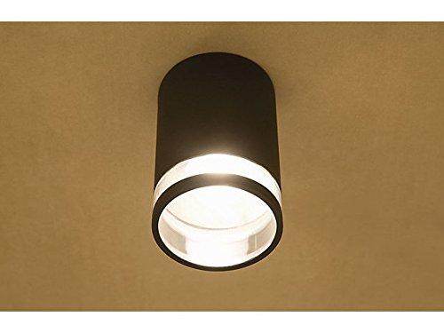 Elegante Deckenleuchte in anthrazit inkl 1x 12W E27 LED 230V Deckenlampe aus Aluminium Glas für GartenTerrasse Weg Terrasse Lampen Leuchte außen