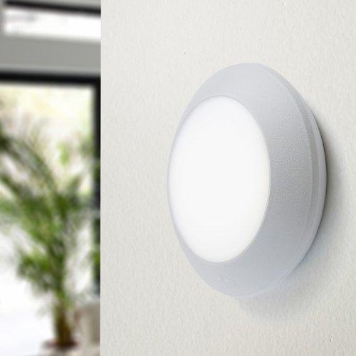 MIA Light Außen LED Deckenleuchte GrauDeckenlampe Wandleuchte Wandlampe Außenleuchte Außenlampe